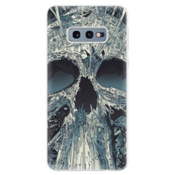 Odolné silikonové pouzdro iSaprio - Abstract Skull - Samsung Galaxy S10e