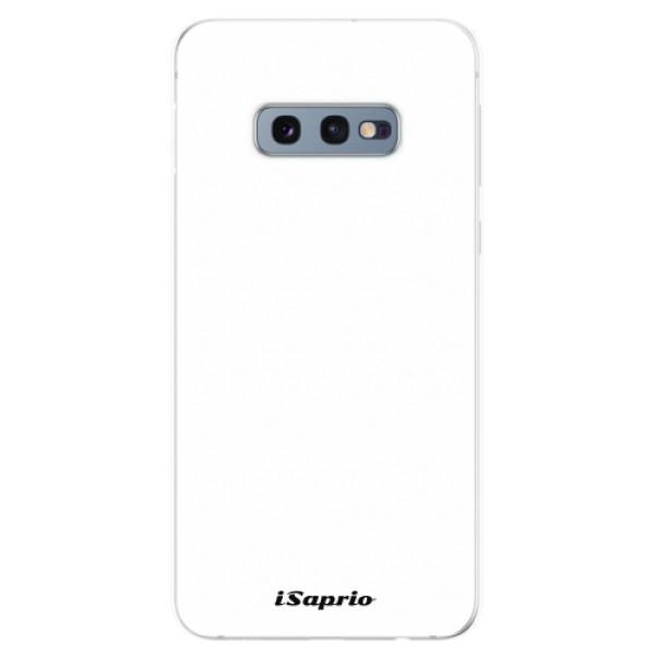 Odolné silikonové pouzdro iSaprio - 4Pure - bílý - Samsung Galaxy S10e