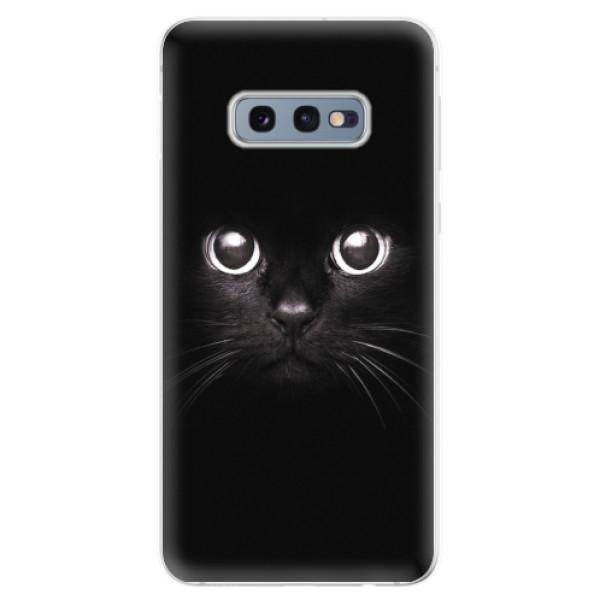 Odolné silikonové pouzdro iSaprio - Black Cat - Samsung Galaxy S10e