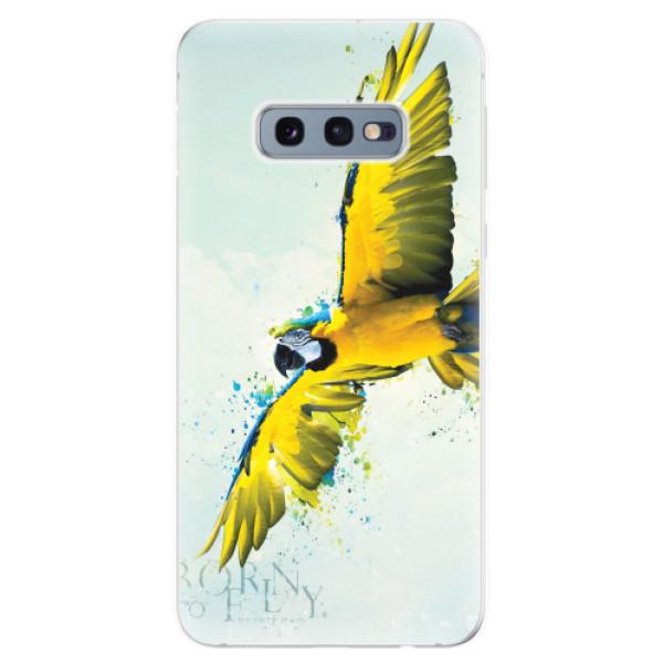 Odolné silikonové pouzdro iSaprio - Born to Fly - Samsung Galaxy S10e