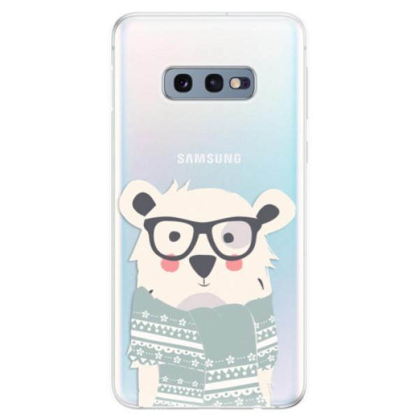 Odolné silikonové pouzdro iSaprio - Bear with Scarf - Samsung Galaxy S10e