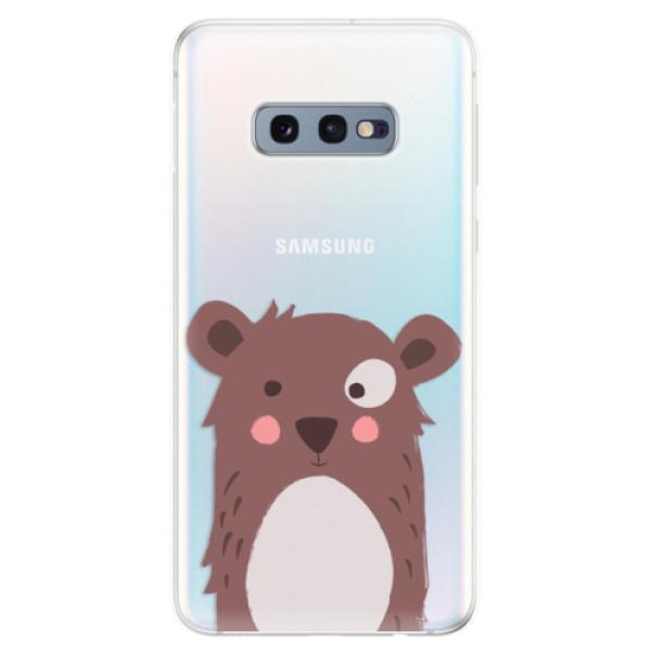 Odolné silikonové pouzdro iSaprio - Brown Bear - Samsung Galaxy S10e