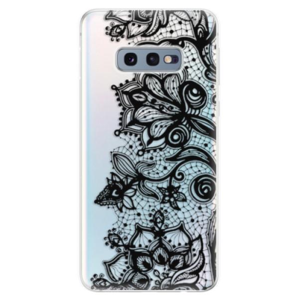 Odolné silikonové pouzdro iSaprio - Black Lace - Samsung Galaxy S10e
