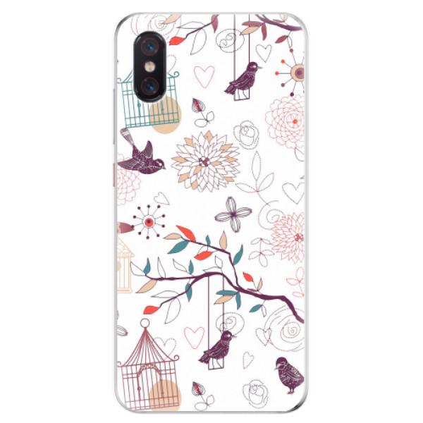 Odolné silikonové pouzdro iSaprio - Birds - Xiaomi Mi 8 Pro