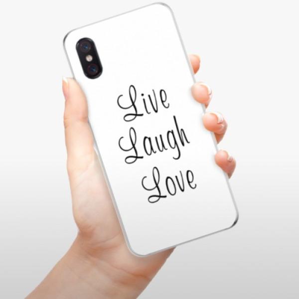 Odolné silikonové pouzdro iSaprio - Live Laugh Love - Xiaomi Mi 8 Pro