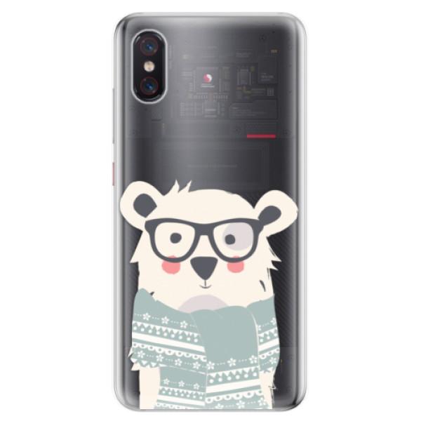 Odolné silikonové pouzdro iSaprio - Bear with Scarf - Xiaomi Mi 8 Pro