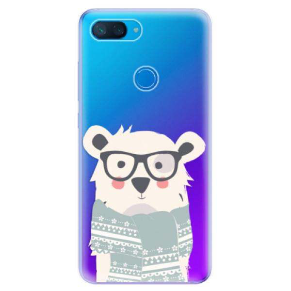 Odolné silikonové pouzdro iSaprio - Bear with Scarf - Xiaomi Mi 8 Lite
