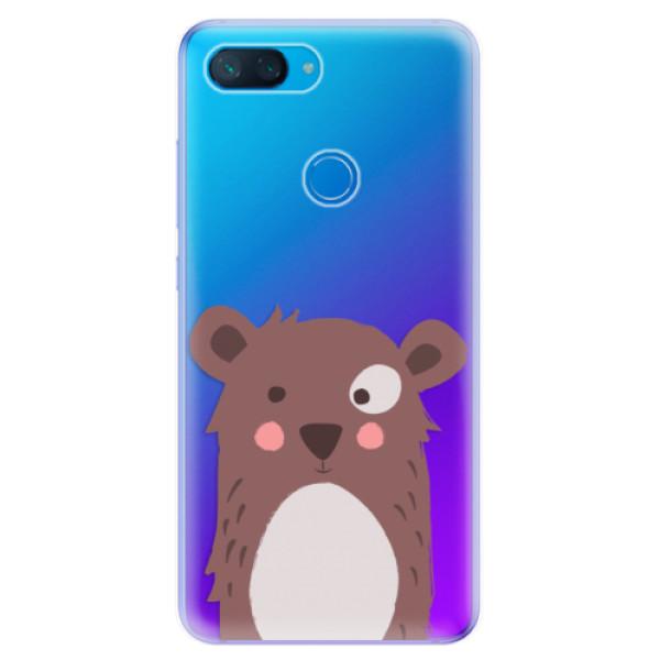 Odolné silikonové pouzdro iSaprio - Brown Bear - Xiaomi Mi 8 Lite