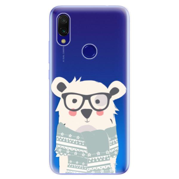 Odolné silikonové pouzdro iSaprio - Bear with Scarf - Xiaomi Redmi 7