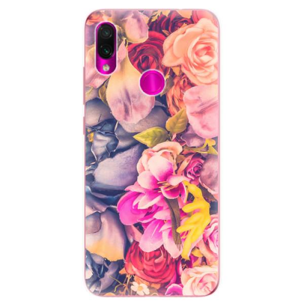 Odolné silikonové pouzdro iSaprio - Beauty Flowers - Xiaomi Redmi Note 7