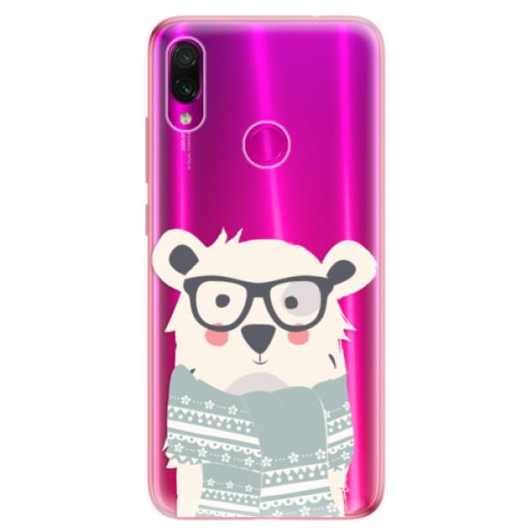 Odolné silikonové pouzdro iSaprio - Bear with Scarf - Xiaomi Redmi Note 7