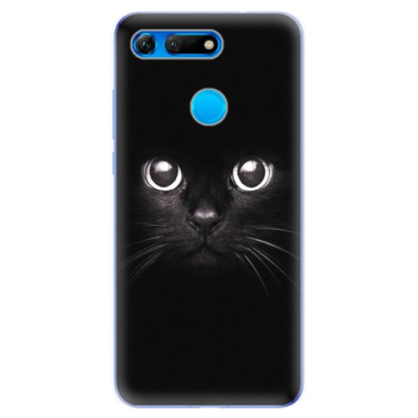 Odolné silikonové pouzdro iSaprio - Black Cat - Huawei Honor View 20