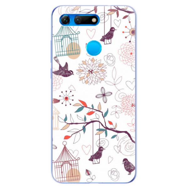 Odolné silikonové pouzdro iSaprio - Birds - Huawei Honor View 20