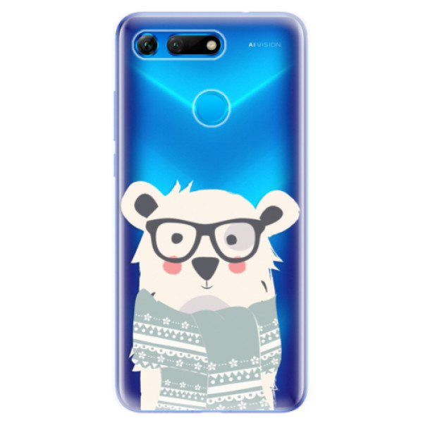 Odolné silikonové pouzdro iSaprio - Bear with Scarf - Huawei Honor View 20