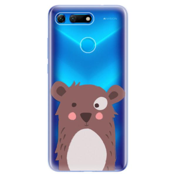 Odolné silikonové pouzdro iSaprio - Brown Bear - Huawei Honor View 20