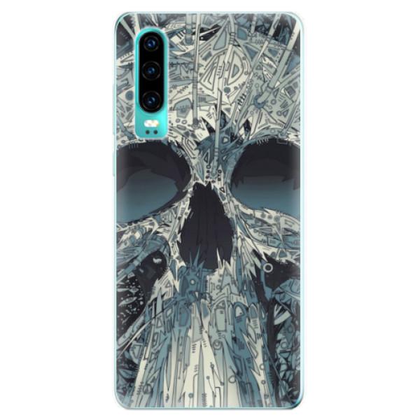 Odolné silikonové pouzdro iSaprio - Abstract Skull - Huawei P30