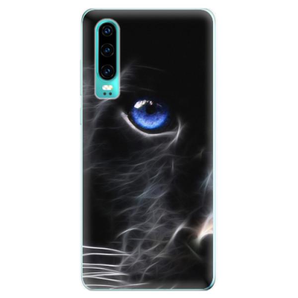 Odolné silikonové pouzdro iSaprio - Black Puma - Huawei P30