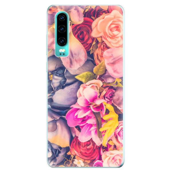 Odolné silikonové pouzdro iSaprio - Beauty Flowers - Huawei P30