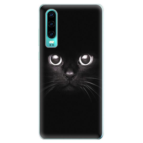 Odolné silikonové pouzdro iSaprio - Black Cat - Huawei P30