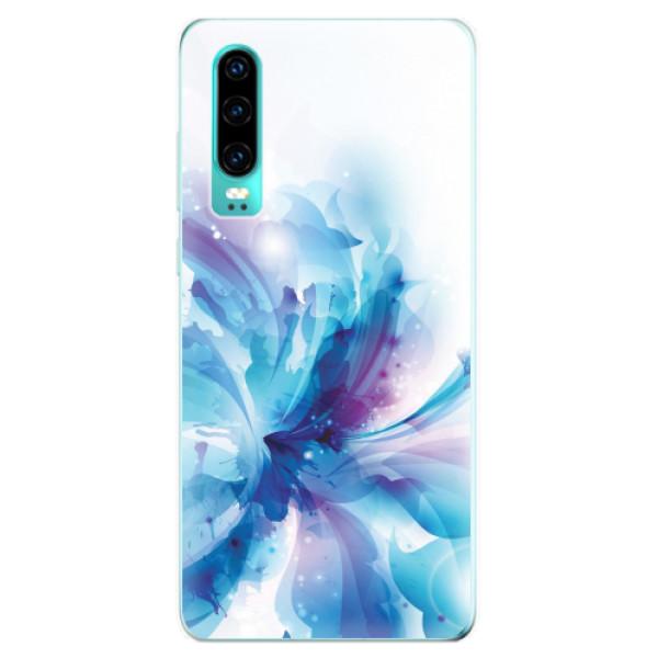 Odolné silikonové pouzdro iSaprio - Abstract Flower - Huawei P30