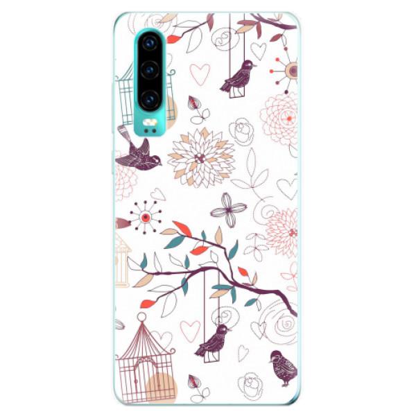 Odolné silikonové pouzdro iSaprio - Birds - Huawei P30
