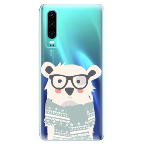 Odolné silikonové pouzdro iSaprio - Bear with Scarf - Huawei P30