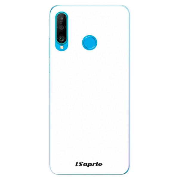 Odolné silikonové pouzdro iSaprio - 4Pure - bílý - Huawei P30 Lite