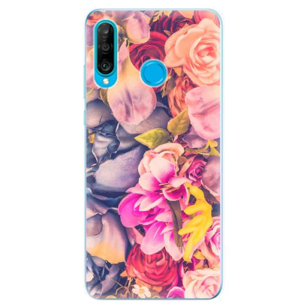 Odolné silikonové pouzdro iSaprio - Beauty Flowers - Huawei P30 Lite