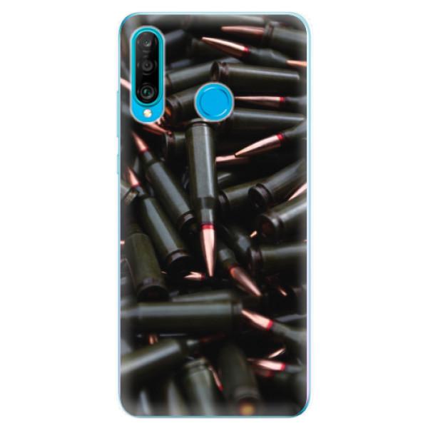 Odolné silikonové pouzdro iSaprio - Black Bullet - Huawei P30 Lite