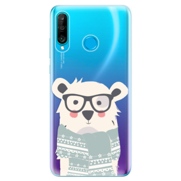 Odolné silikonové pouzdro iSaprio - Bear with Scarf - Huawei P30 Lite