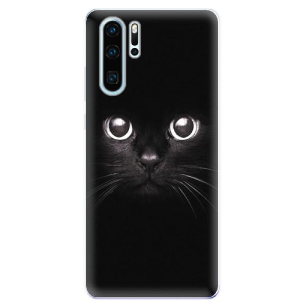 Odolné silikonové pouzdro iSaprio - Black Cat - Huawei P30 Pro