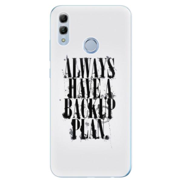 Odolné silikonové pouzdro iSaprio - Backup Plan - Huawei Honor 10 Lite