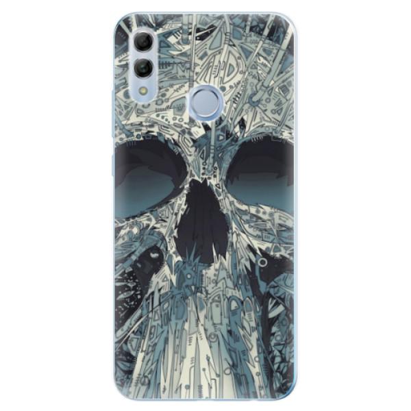 Odolné silikonové pouzdro iSaprio - Abstract Skull - Huawei Honor 10 Lite