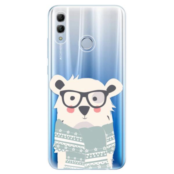 Odolné silikonové pouzdro iSaprio - Bear with Scarf - Huawei Honor 10 Lite