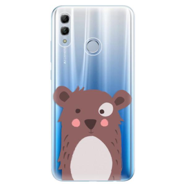 Odolné silikonové pouzdro iSaprio - Brown Bear - Huawei Honor 10 Lite