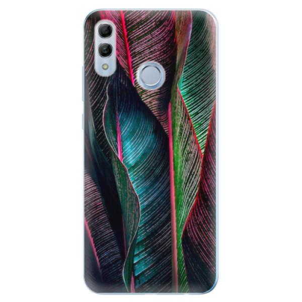 Odolné silikonové pouzdro iSaprio - Black Leaves - Huawei Honor 10 Lite