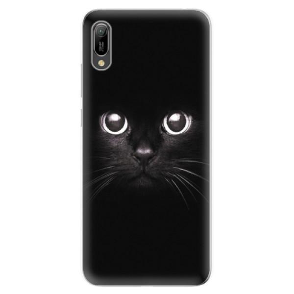 Odolné silikonové pouzdro iSaprio - Black Cat - Huawei Y6 2019