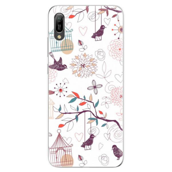 Odolné silikonové pouzdro iSaprio - Birds - Huawei Y6 2019