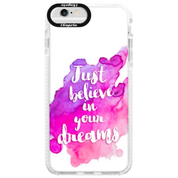 Silikonové pouzdro Bumper iSaprio - Believe - iPhone 6/6S