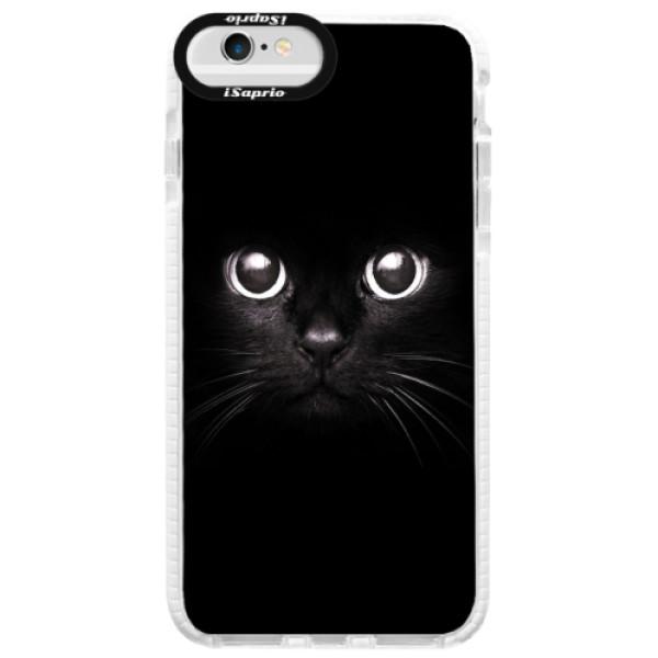 Silikonové pouzdro Bumper iSaprio - Black Cat - iPhone 6/6S