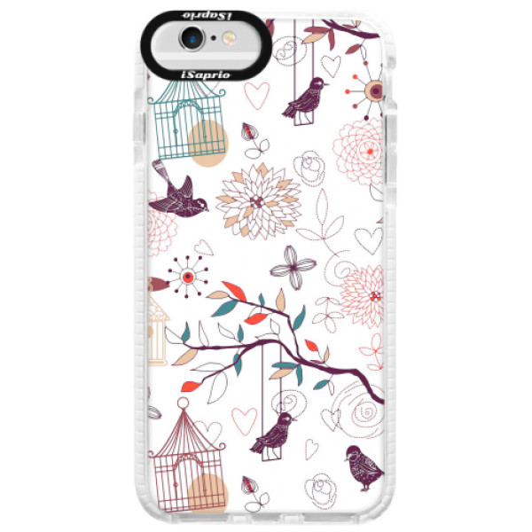 Silikonové pouzdro Bumper iSaprio - Birds - iPhone 6/6S