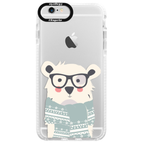 Silikonové pouzdro Bumper iSaprio - Bear with Scarf - iPhone 6/6S