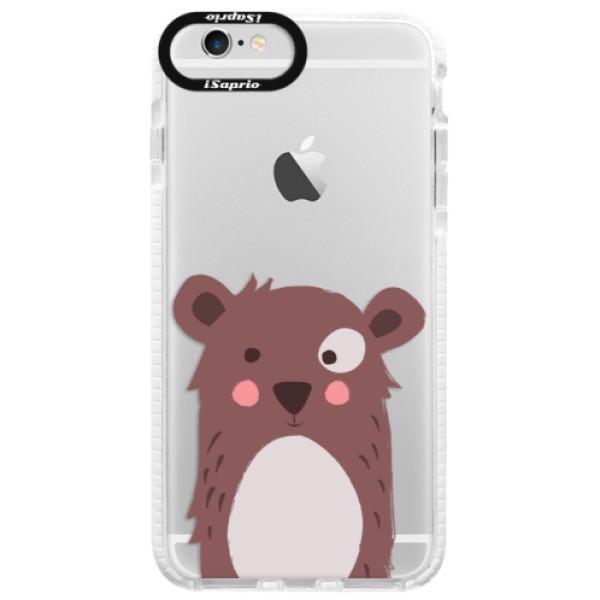 Silikonové pouzdro Bumper iSaprio - Brown Bear - iPhone 6/6S