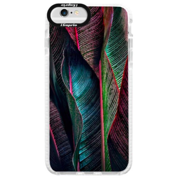 Silikonové pouzdro Bumper iSaprio - Black Leaves - iPhone 6/6S