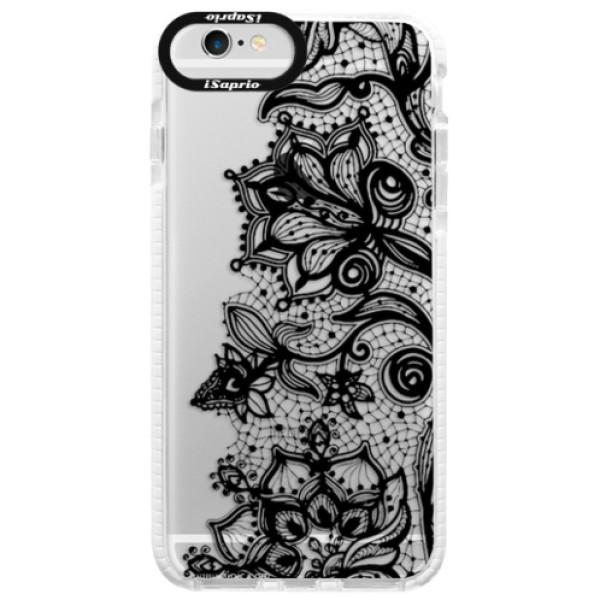 Silikonové pouzdro Bumper iSaprio - Black Lace - iPhone 6/6S