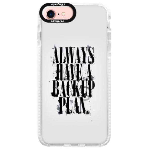 Silikonové pouzdro Bumper iSaprio - Backup Plan - iPhone 7