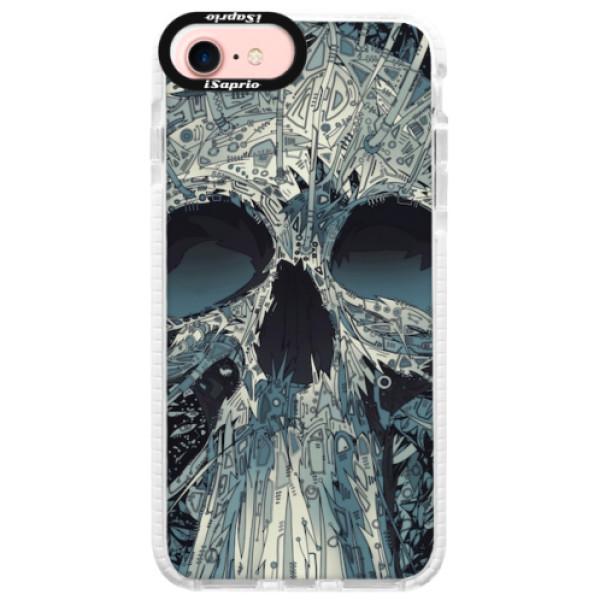 Silikonové pouzdro Bumper iSaprio - Abstract Skull - iPhone 7