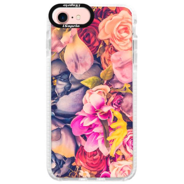 Silikonové pouzdro Bumper iSaprio - Beauty Flowers - iPhone 7