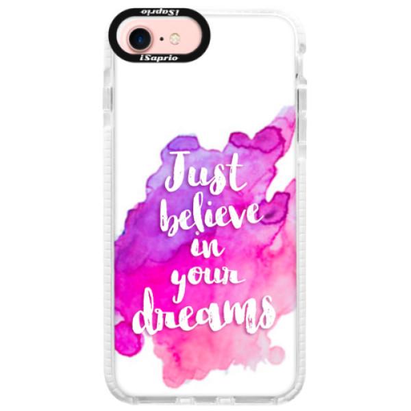 Silikonové pouzdro Bumper iSaprio - Believe - iPhone 7
