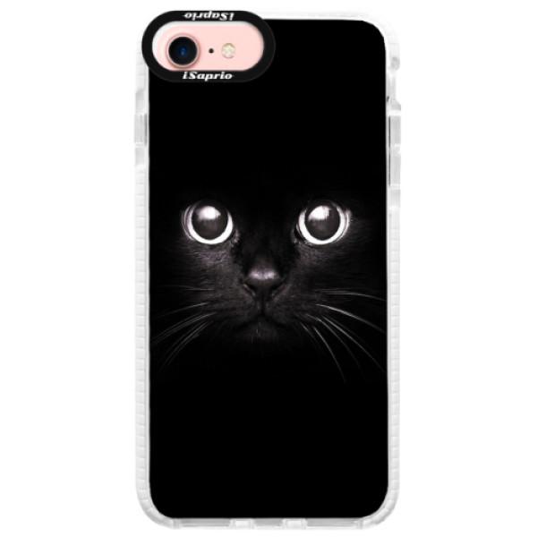 Silikonové pouzdro Bumper iSaprio - Black Cat - iPhone 7